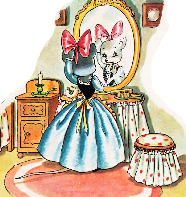 Precioso La Ratita Presumida Ilustración Clásica Ilustraciones Cuento De Hadas