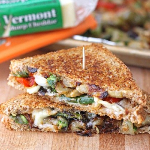 Roasted Veggie Grilled Cheese