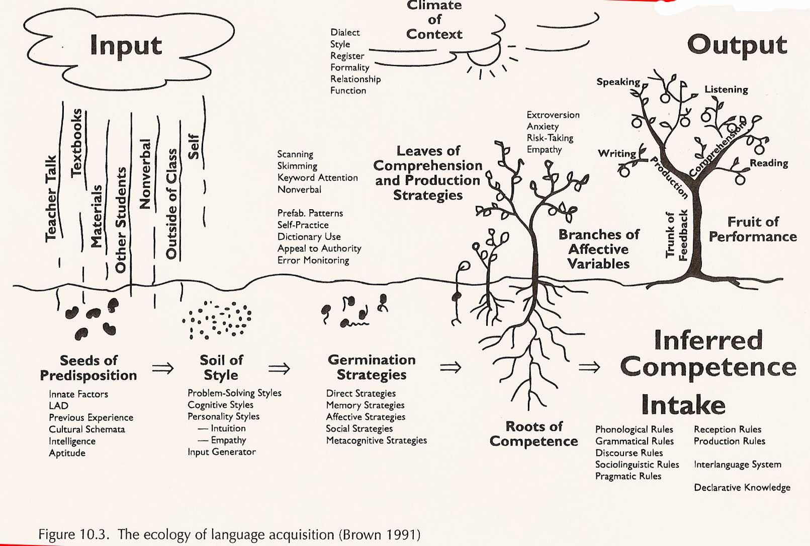 Example of usage from Krashen's model and how (BICS