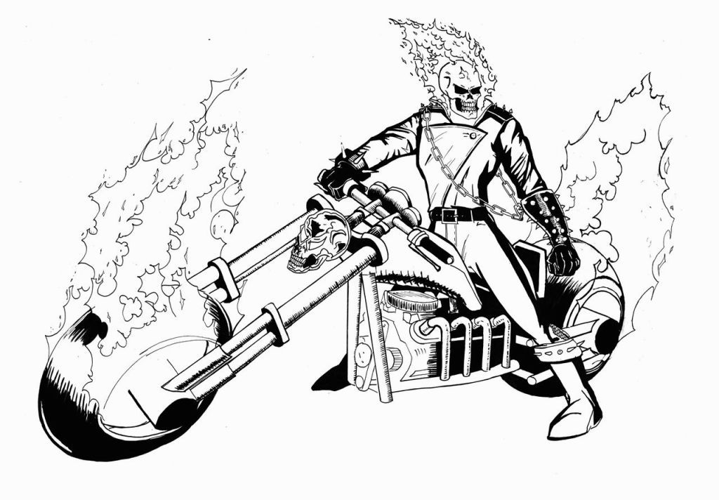 ghost rider coloring pages # 2