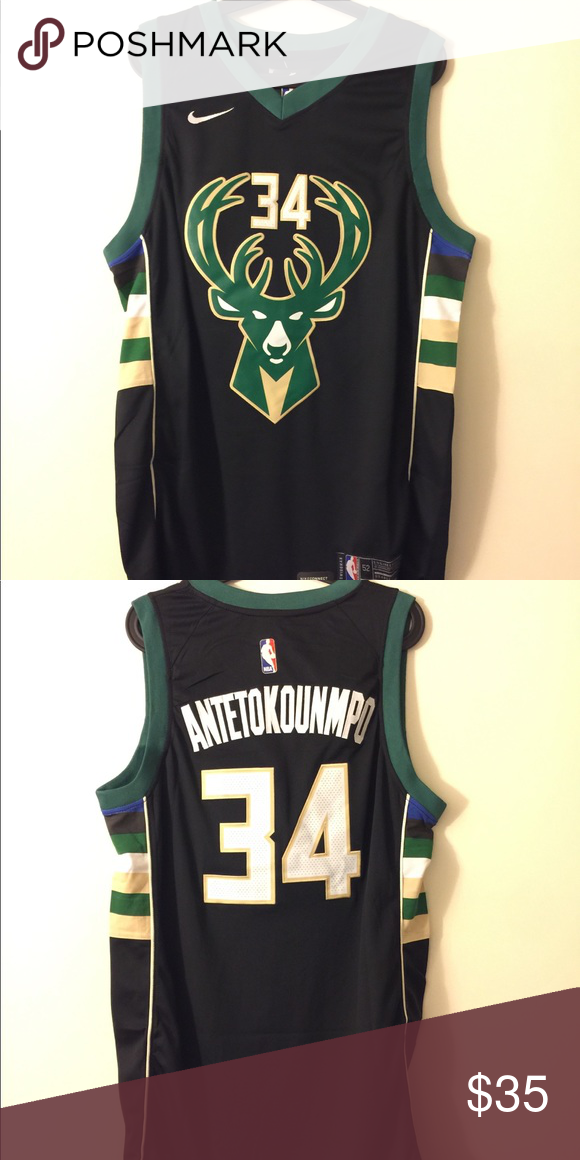 online store a63c1 30631 Giannis Antetokounmpo #34 Milwaukee Bucks Jersey Brand new ...
