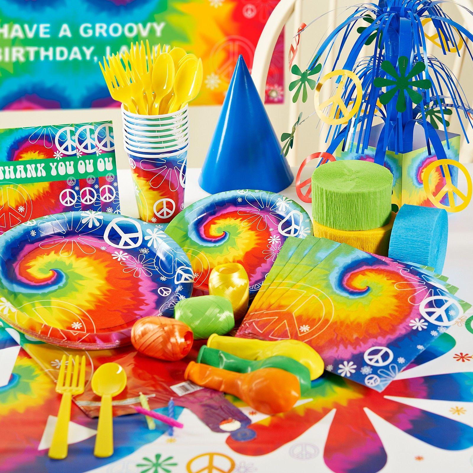 Tye Dye Party Supplies