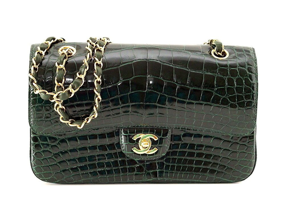 ce489ee2e4b0c0 CHANEL bag Emerald green $36,000 Crocodile classic flap gold hardware  NEW/box Available mightykismet ebay