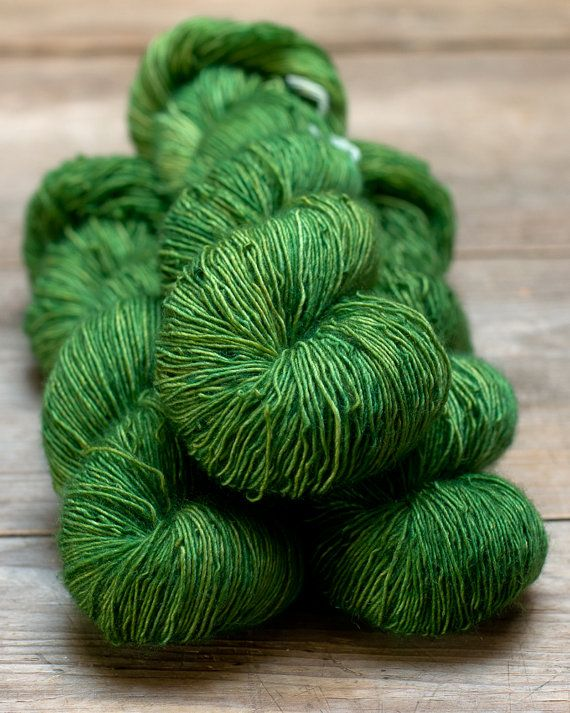 Singles Sock Moss Dark by MelliferaYarns on Etsy