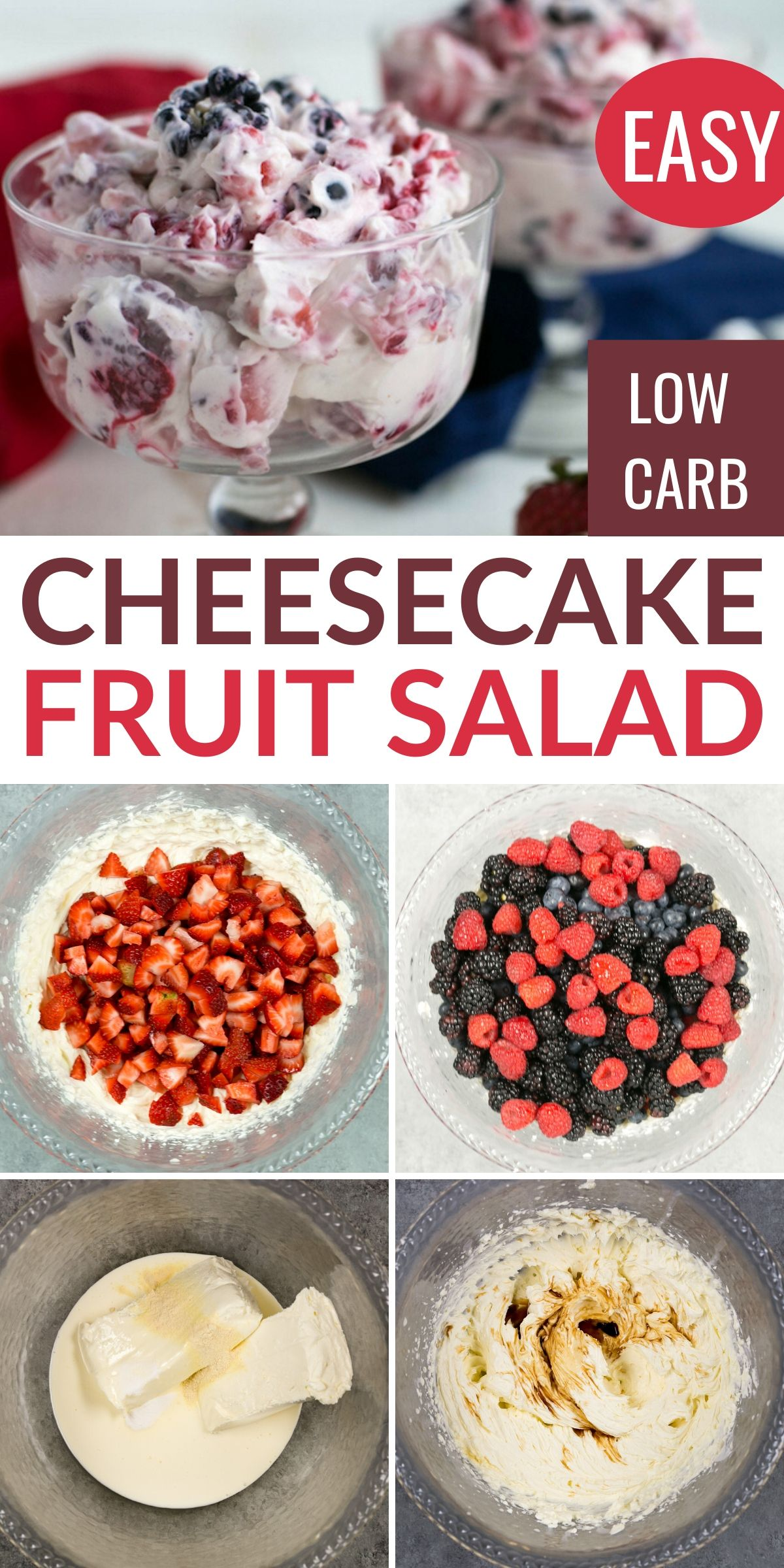 Low Carb Cheesecake Fruit Salad