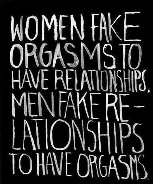 Fake orgasm women