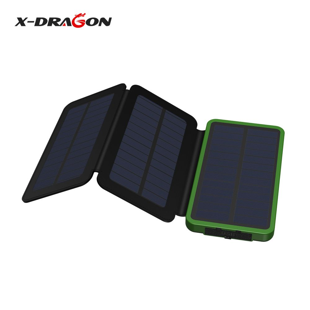 X Dragon 10000mah Solar Panel Power Bank Battery Charger Charging Charge For Iphone Ipad Samsung Nokia Sony Huawei Htc And More