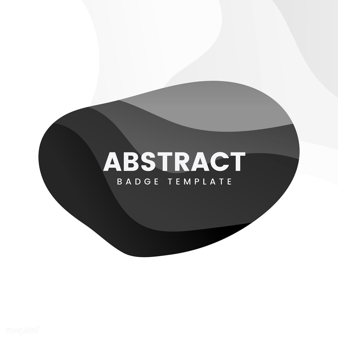 Abstract Badge Template In Black