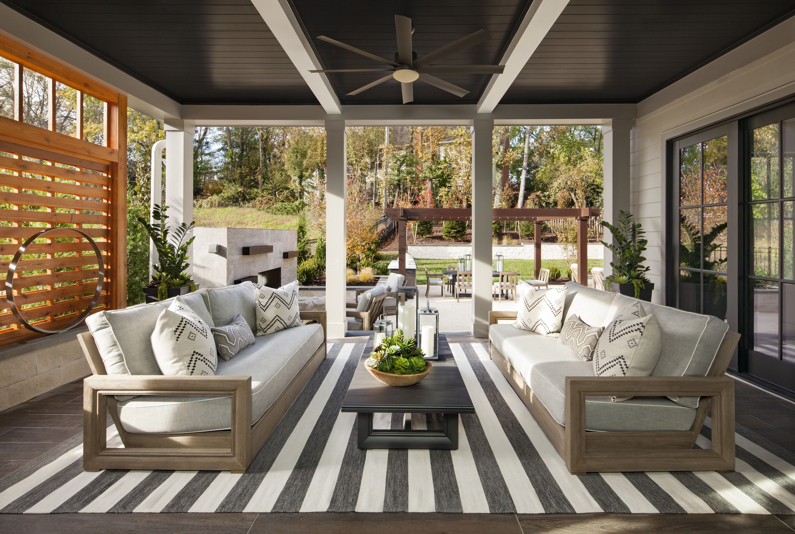 Take the good times outside with this fantastic outdoor ... on Farmhouse Outdoor Living Space id=38733