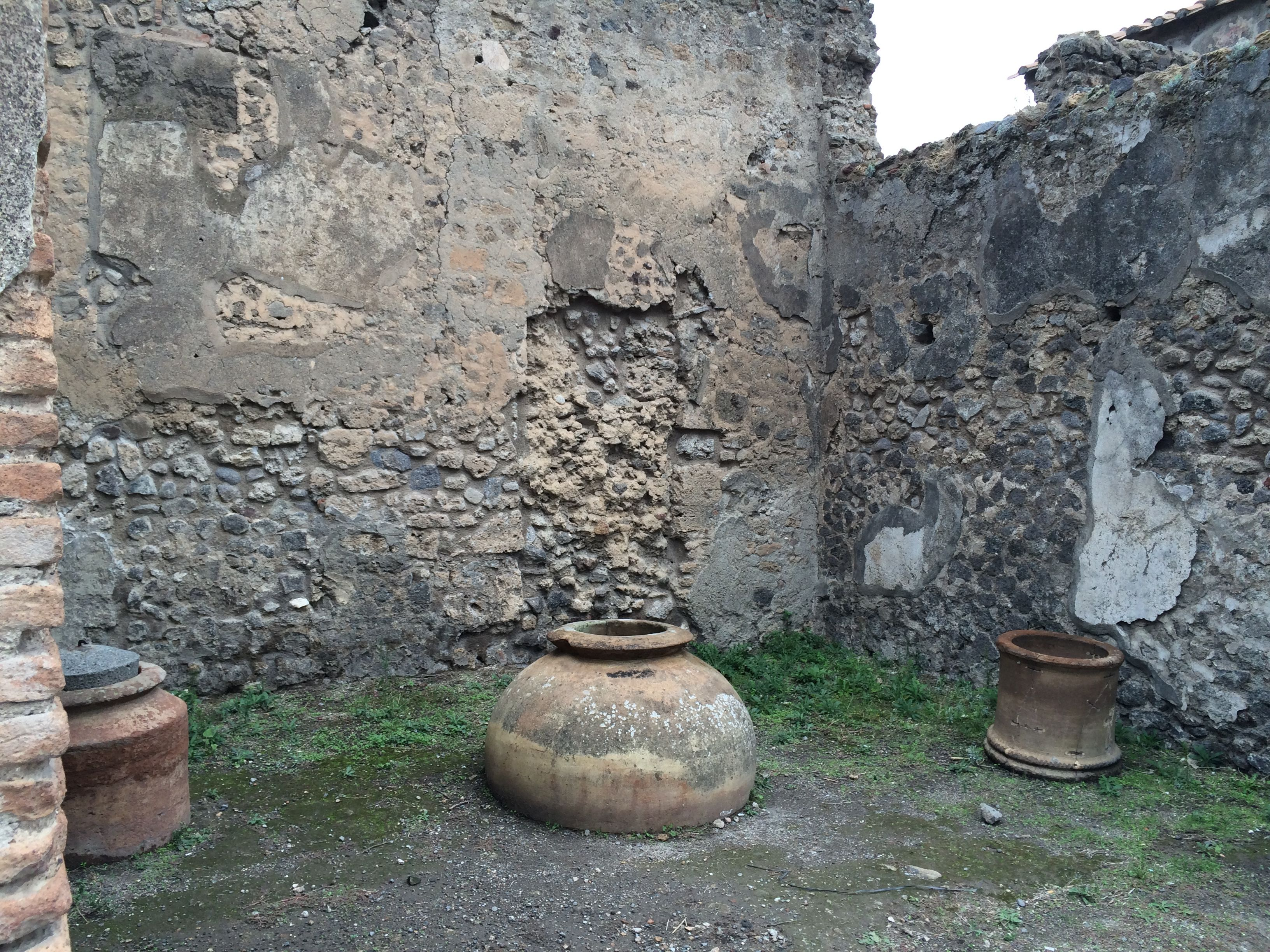 Clay pots that were in a home