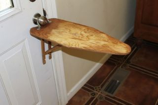 Vintage Antique Wood Ironing Board Waco Legless Handy Ann Wood