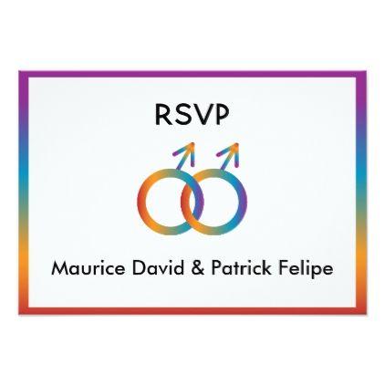 Male Symbols On Rsvp Wedding Card Invitations Custom Unique Diy