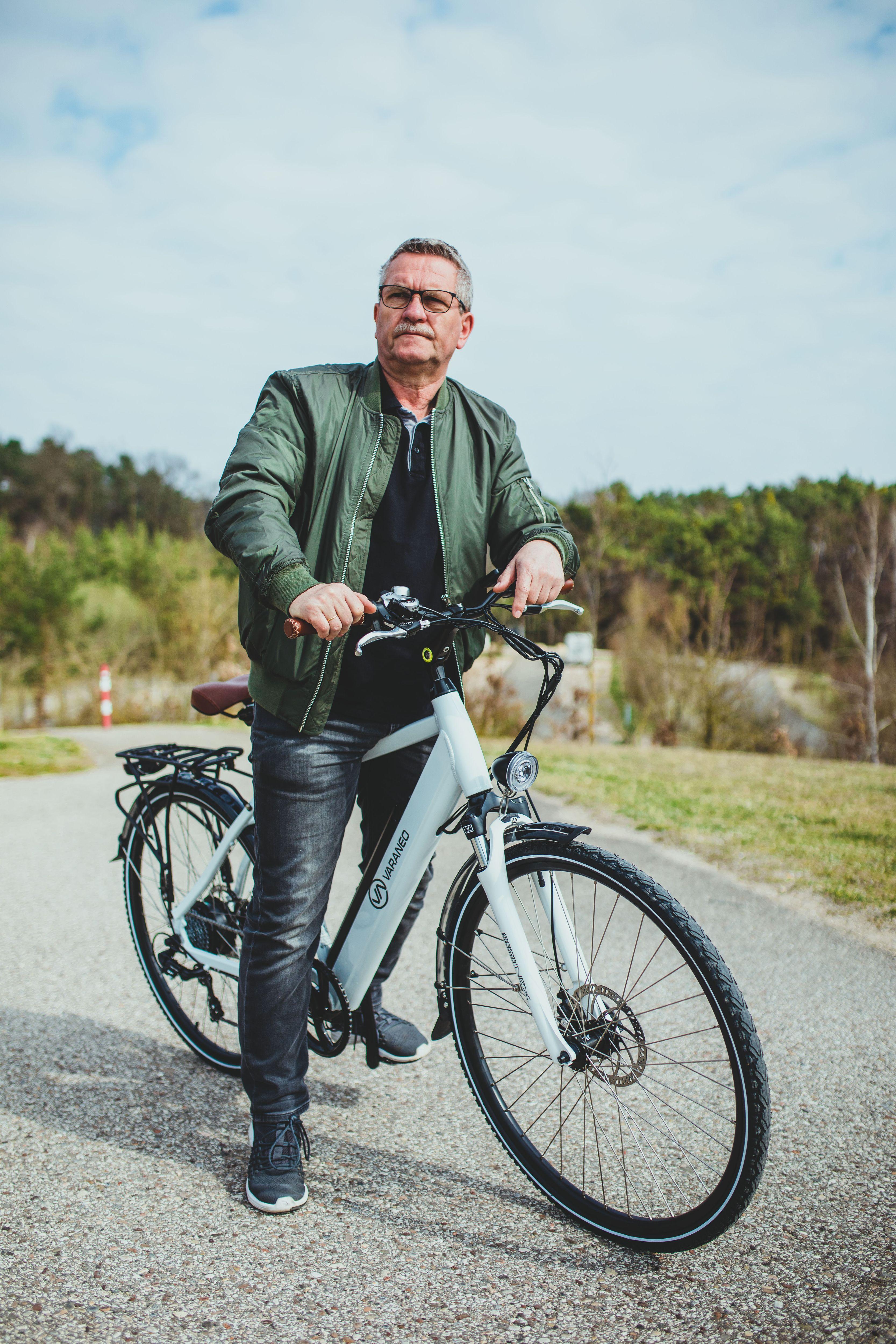 Das Bike verfügt über 28