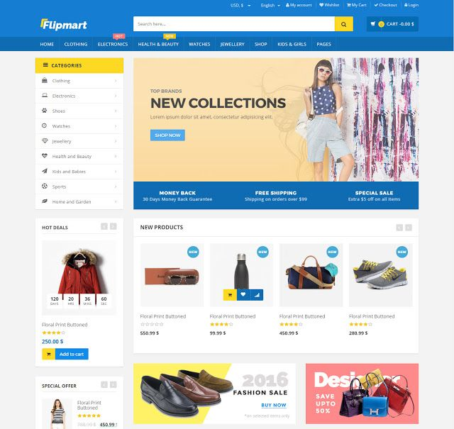 Flipmart Responsive Ecommerce WordPress Themes Plugin Blogger Business Card Free