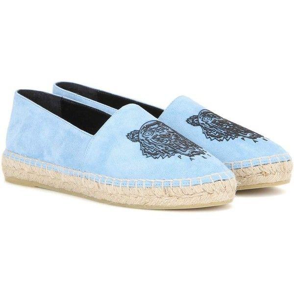 Kenzo Suede Espadrilles (67 KWD) ❤ liked on Polyvore featuring shoes, sandals, blue, blue espadrilles, espadrilles shoes, suede espadrilles, kenzo shoes and blue sandals