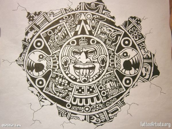 Aztec Calendar Tattoos Designs Free Tattoo Designs Aztec