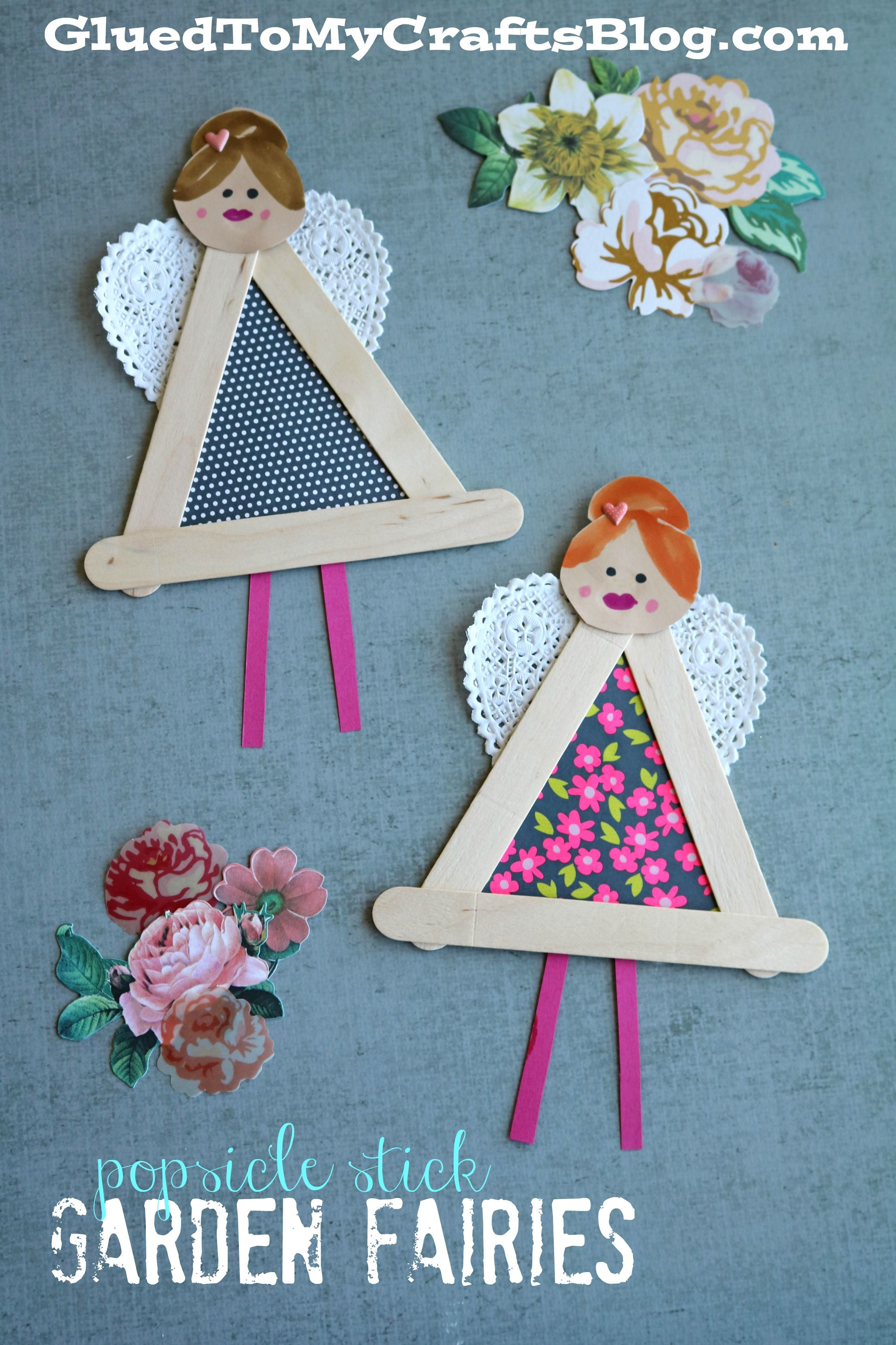 Popsicle Stick Garden Fairies Kid Craft Mother s Day