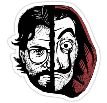 La Casa De Papel Stickers By Guyculture Redbubble Drawings Stickers Sketches