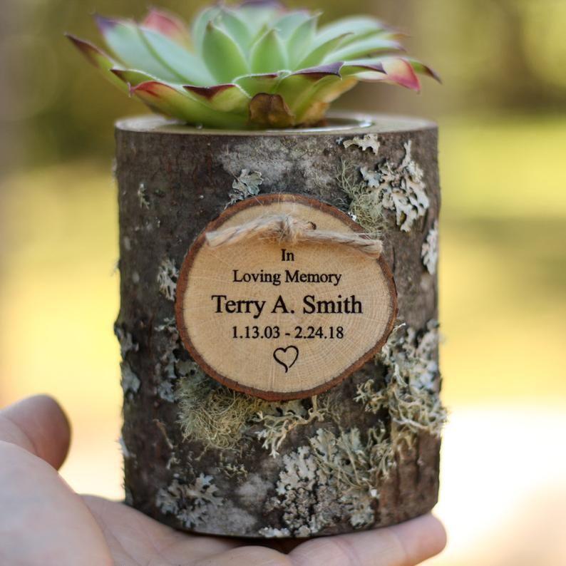 Urn Succulent Holder Keepsake log Sharing Urn Cremation