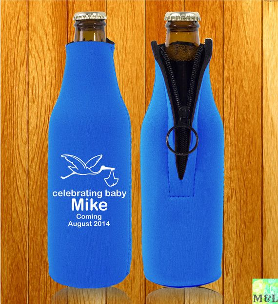 personalized beer bottle koozie hand tested zipper baby shower koozies are an economical and useful favor
