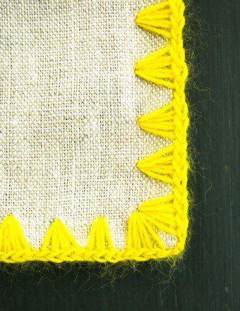 Edged Linen Wrap | Purl Soho