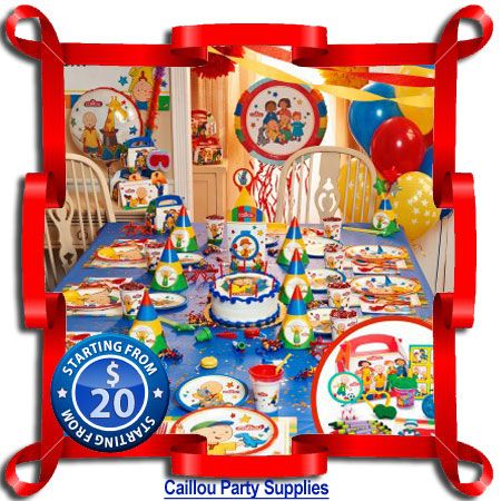 Caillou Party Supplies Birthday ideas boys Pinterest Caillou