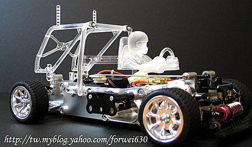 Jazrider Aluminum Front vertical Knuckle Bras Set Pour Tamiya DT02//DT03 Châssis