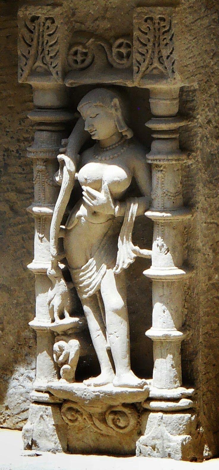 Bathing maiden. Rani ki vav. Gujarat
