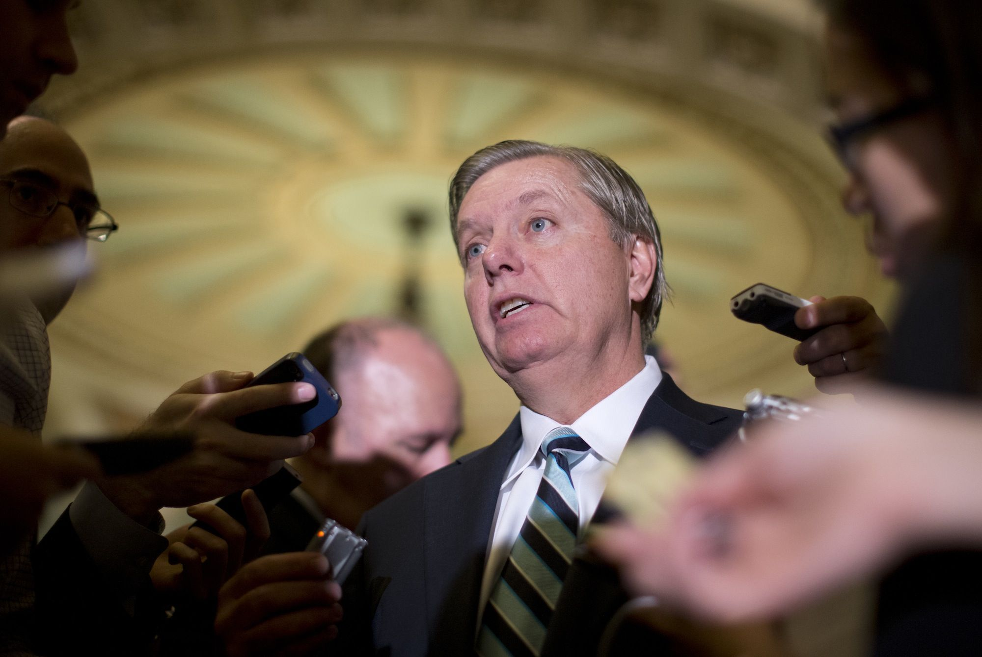 """Sen. Lindsey Graham, R-S.C., """"An informed electorate is a better check against governmental tyranny than the Second Amendment""""."""