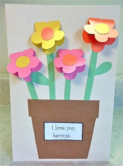 Mother S Day Construction Paper Vase Construction Paper Crafts