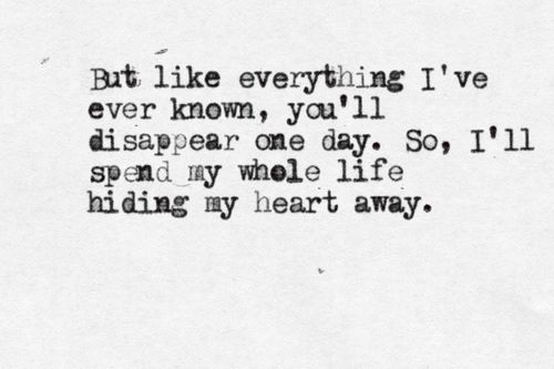 Adele lyrics; hiding my heart