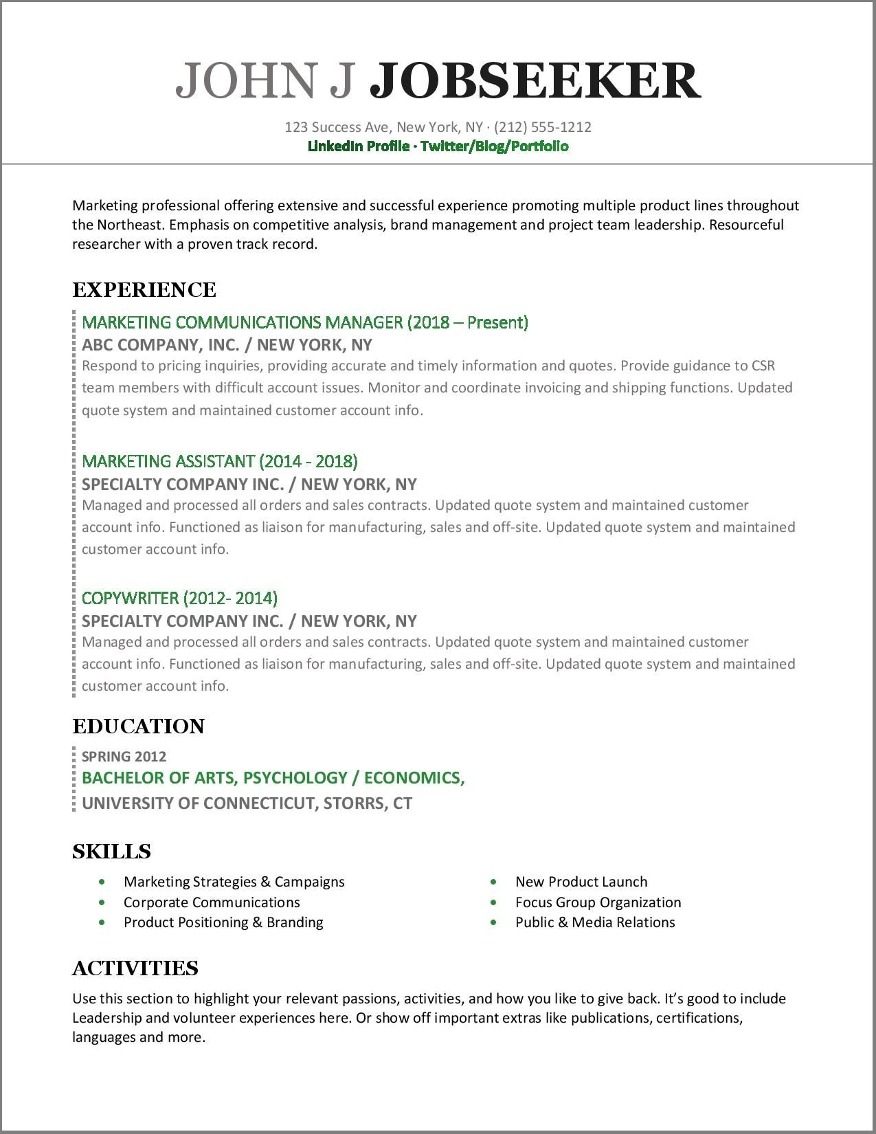 Try Resume Resume Examples Resume Skills Professional Resume Examples