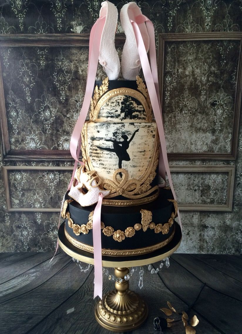 Stunning ballet cake created by Rachael 1984 from Craftsy.