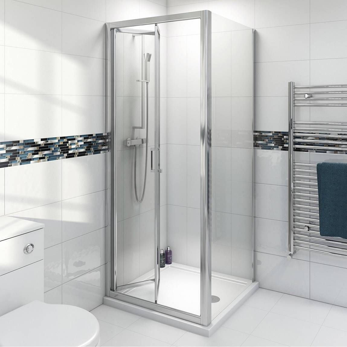 Victoria Plumb Showers >> V6 Bifold Shower Enclosure 760 - Victoria Plumb | bathroom | Rectangular shower enclosures ...