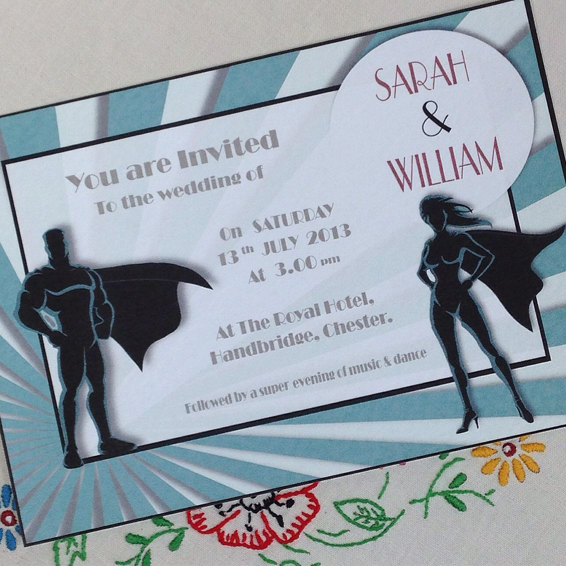 Superhero Wedding Invitation