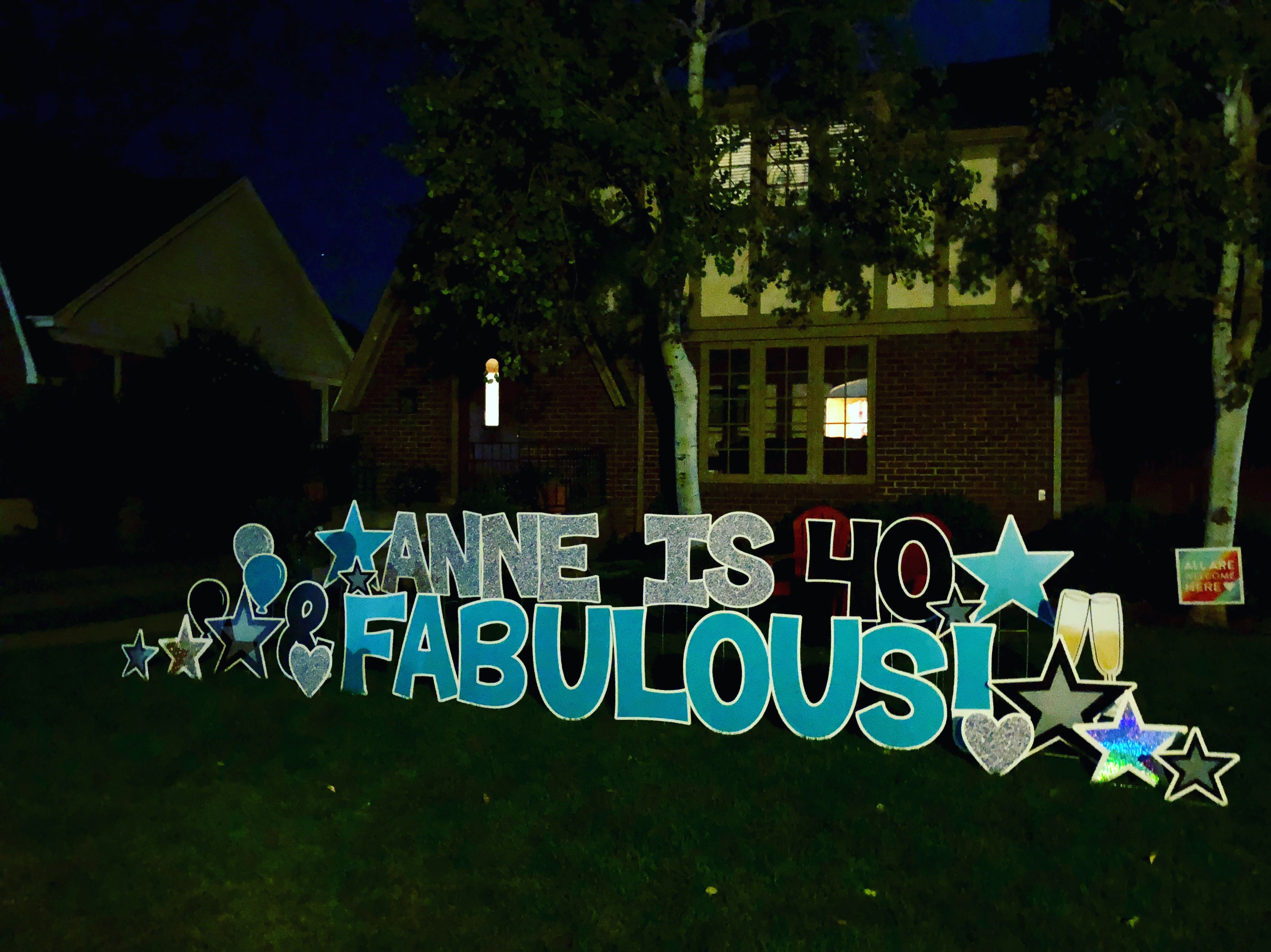 40 And Fabulous Birthday Yard Signs Happy 40th Birthday Yard Signs