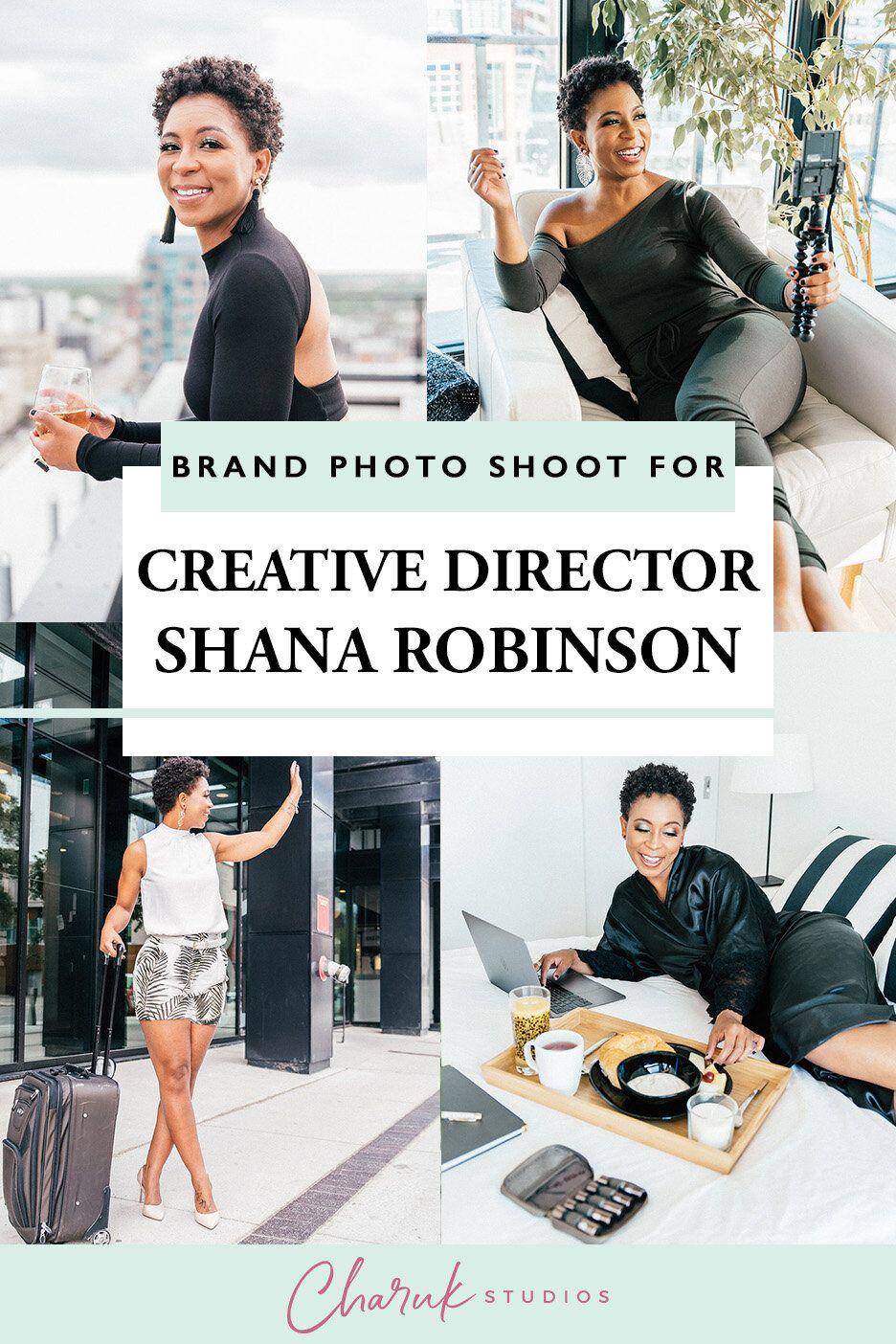 Brand Photo Shoot for Creative Director Shana Robinson by Charuk Studios
