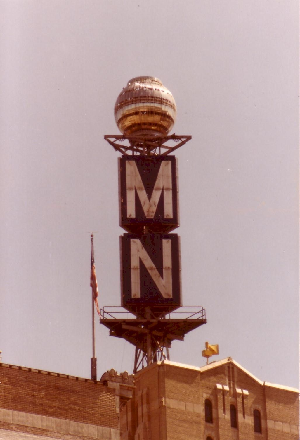 The Weather Ball, perched atop the Michigan National Bank