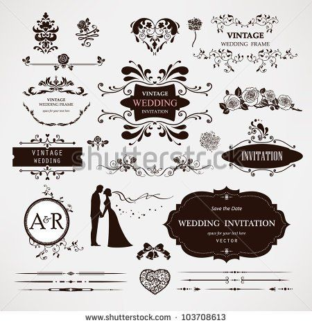 Vector design elements and calligraphic page decorations for vector design elements and calligraphic page decorations for wedding junglespirit Image collections