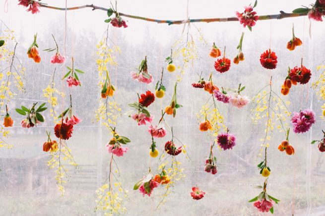 Flower Backdrop With Twinkle Lights In 2020 Home Interiors And