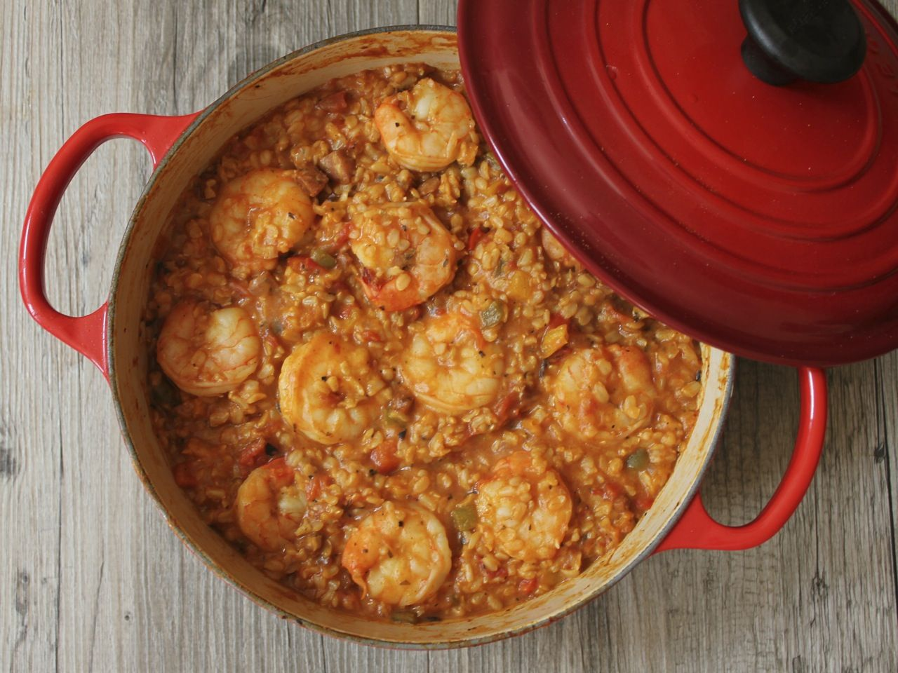 Shrimp chicken andouille jambalaya recipe