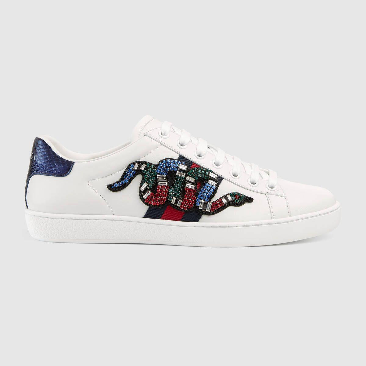Ace embroidered low-top sneaker Basket Gucci Femme, Basket Femme, Sac À Main 3152cdfc860