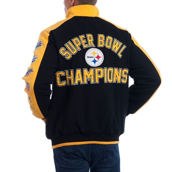 0fd321d3f Picture of Pittsburgh Steelers GIII Classic Varsity Jacket