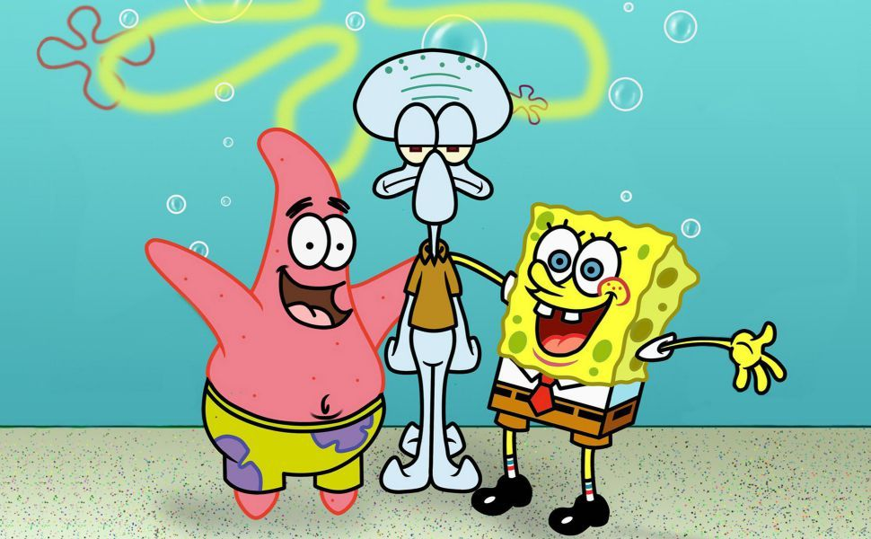 Spongebob Patrick And Squidward Hd Wallpaper Wallpaper Spongebob Kartun Wallpaper Kartun