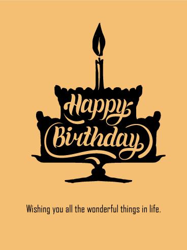 Artistic Birthday Cake Card