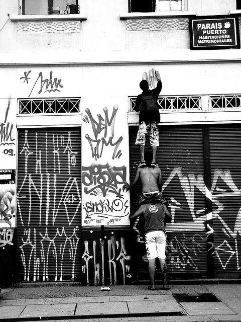 Sao Paulo/ Pixacao : Calle, Pintadas, Ambientación