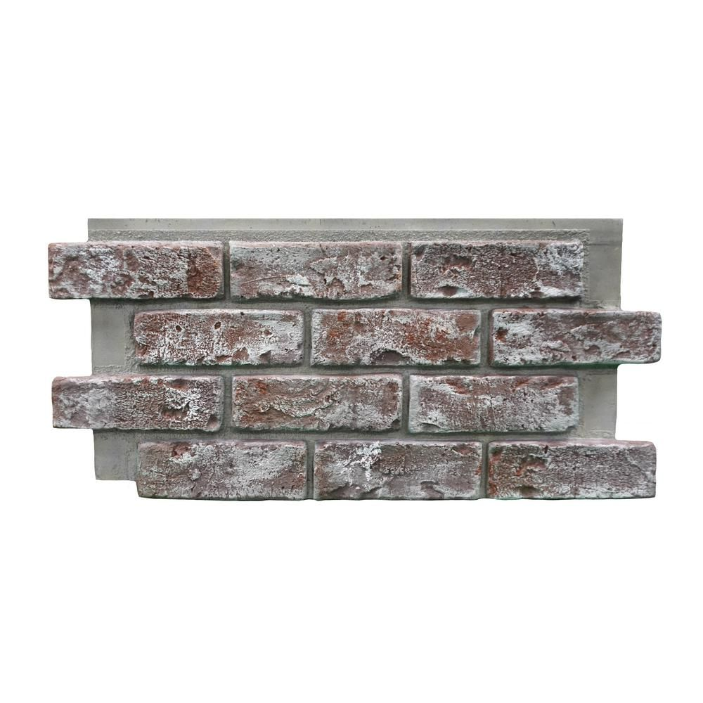 Genstone Chicago Brick 22 5 In X 11 75 In Brick Veneer Siding Half Panel Eacbqp The Home Depot In 2020 Brick Veneer Siding Brick Veneer Chicago Brick