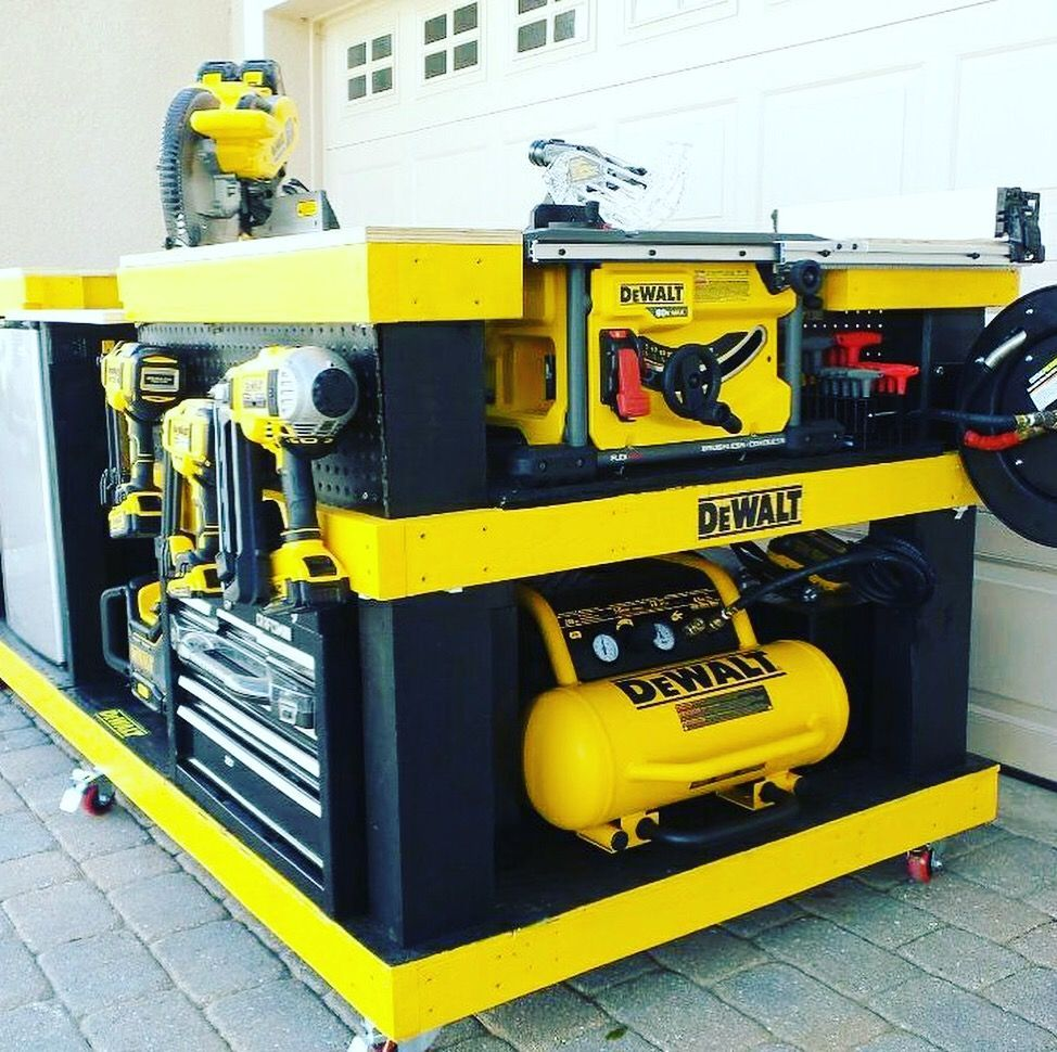 All in one work bench and table saw/ etc | Garage tools ...