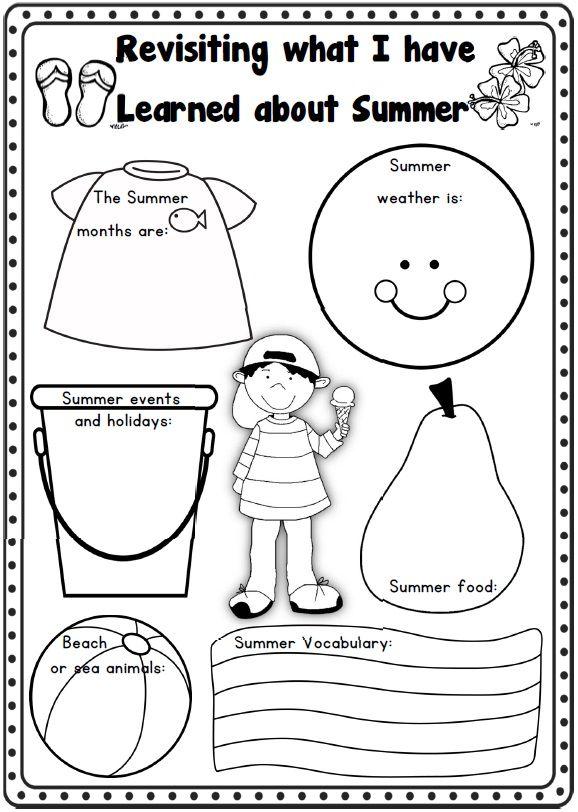 Summer Writing | Writing worksheets, Teaching skills ...
