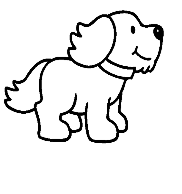 Cartoon Puppy Dog Coloring Page